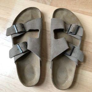 Suede Birkenstock Arizona Sandals Made in Germany